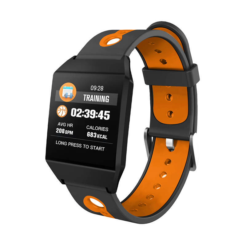 1.3 IPS GPS Smart Watch Waterproof Heart Rate  Smart Bracelet - Orange