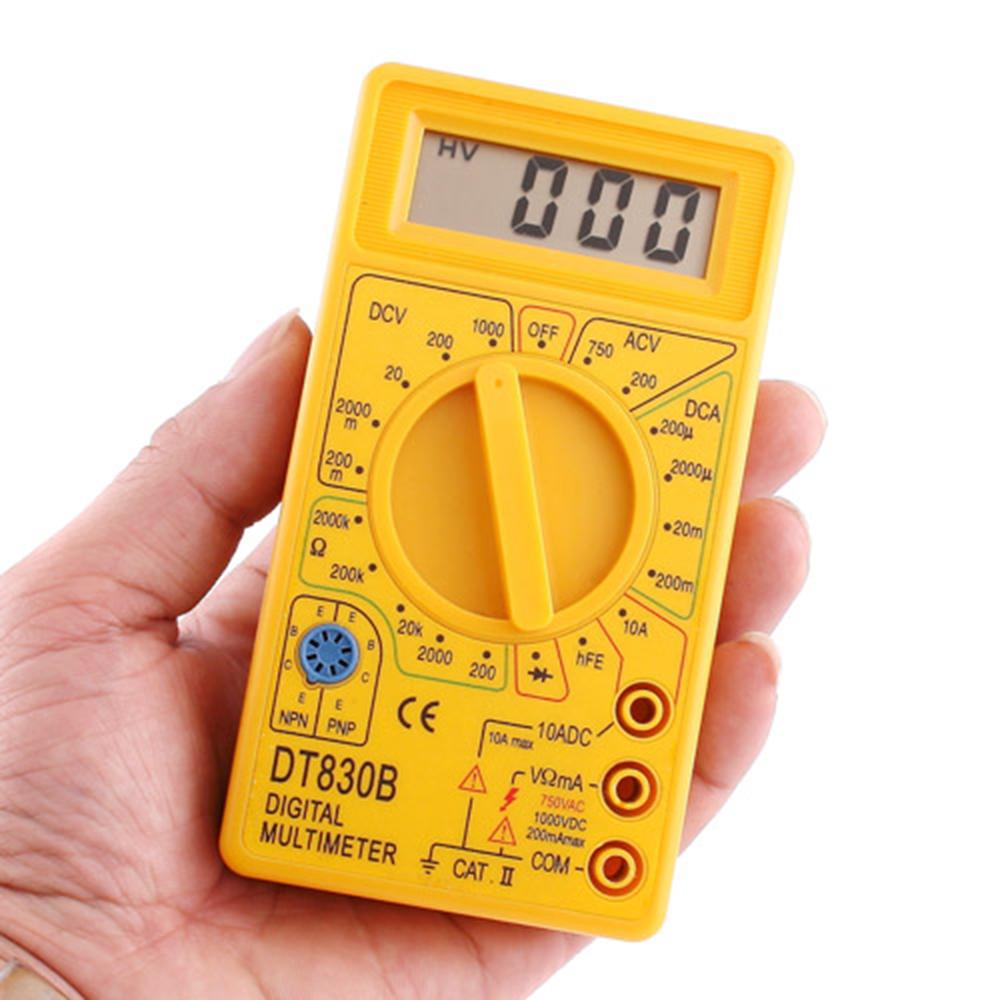 Portable 1000V 10A LCD Digital Multimeter AC/DC Ammeter Voltmeter Ohmmeter Electrical Tester