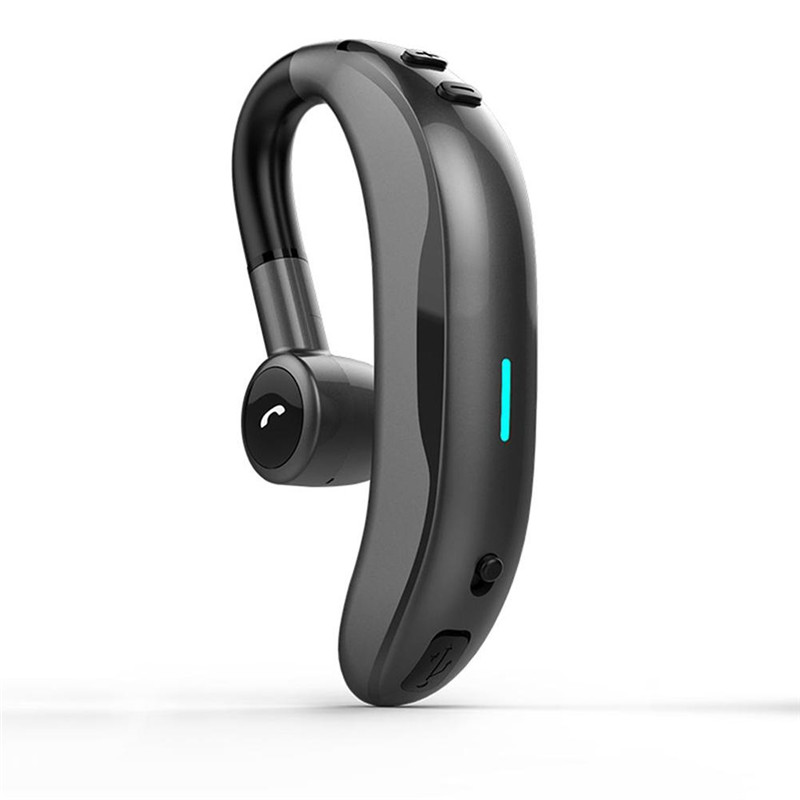 Wireless Bluetooth Earphone Stereo Noise Cancelling Sports Handsfree Headset With Mic - Gray