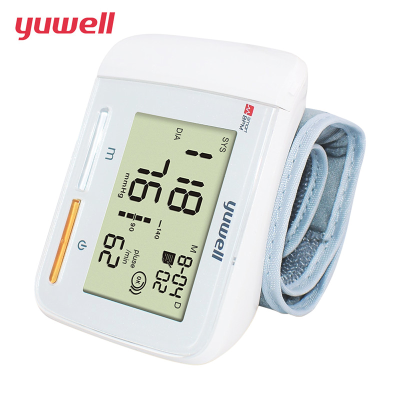 Digital LCD Wrist Blood Pressure Monitor Portable Medical Equipment Measurement Household
