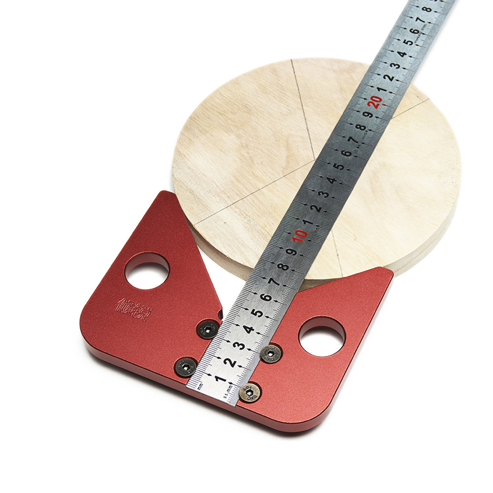Woodworking Center 45° Angle Line Caliber Ruler Wood Measuring Scribe Tool
