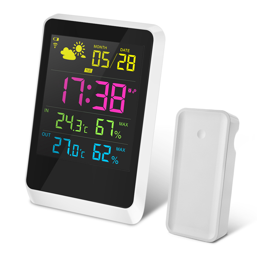 Colorful Mini Weather Station Thermometer Hygrometer with Seneor