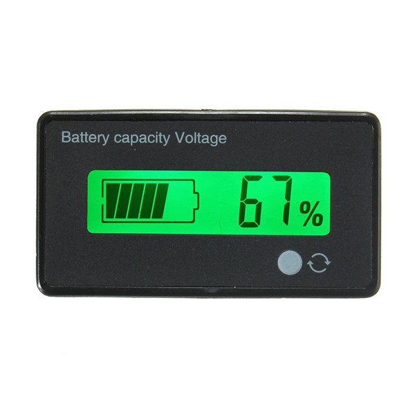 8-70V LCD Acid Lead Lithium Battery Capacity Indicator Digital Voltmeter Tester