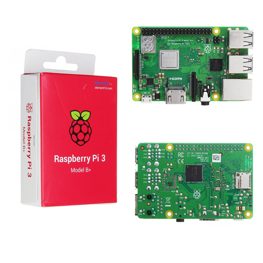 Raspberry Pi 3 Model B+ (Plus) Mother Board Mainboard With BCM2837B0 Cortex-A53 (ARMv8) 1.4GHz CPU