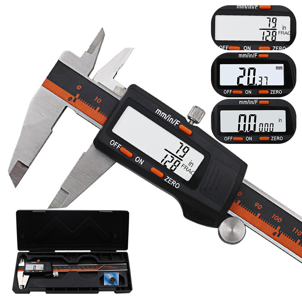 150mm LCD Screen Display Stainless Steel Digital Caliper High Precision