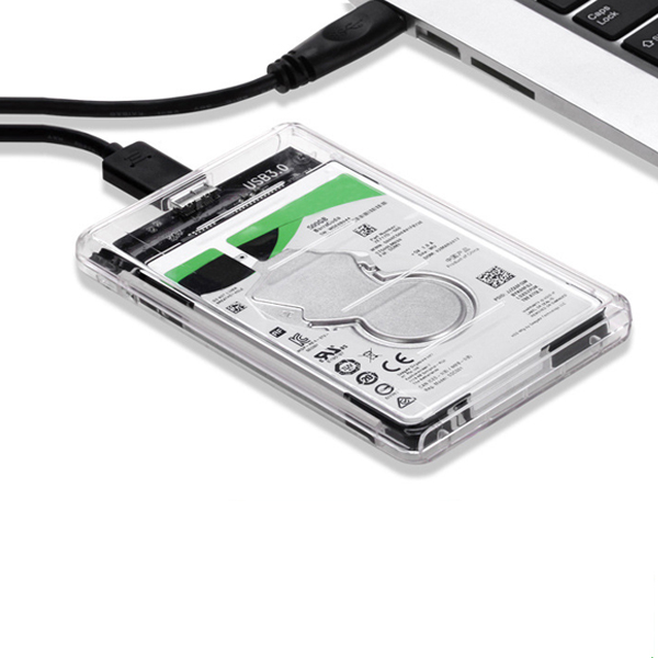 Transparent High Speed USB 3.0 to SATA HDD SSD Hard Drive Enclosure Storage Case