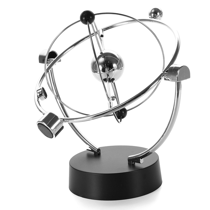 Orbital Desk Decoration Celestial Newton Pendulum Decor - Silver
