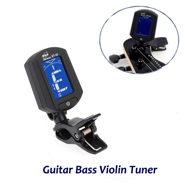 Mini Clip On Digital Electronics Chromatic Guitar Bass Violin Ukulele Tuner