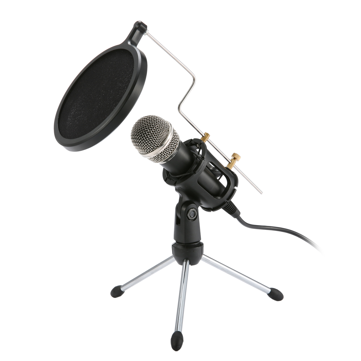 Professional Condenser Microphone Stereo Mic With Stand