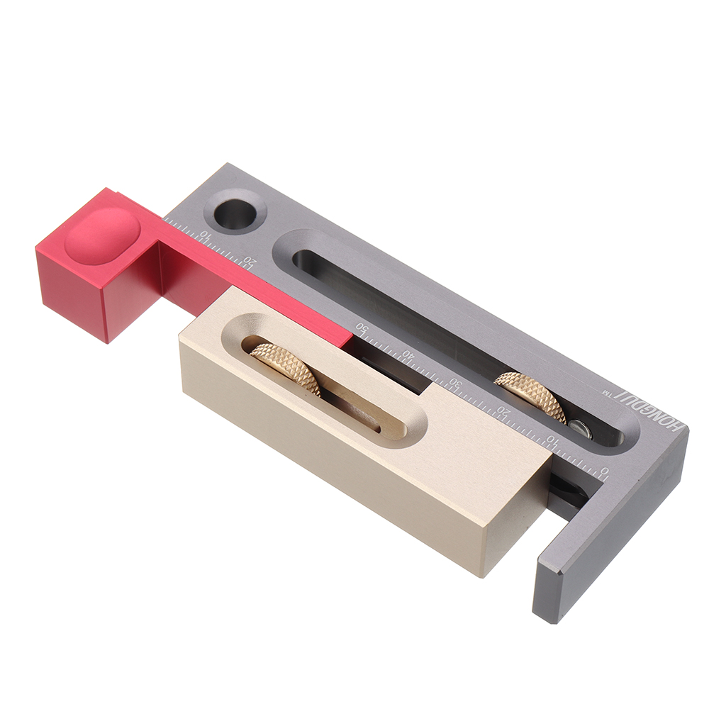 Woodworking Table Saw Gap Slot Regulator Slot Ruler Mortise Measuring Block