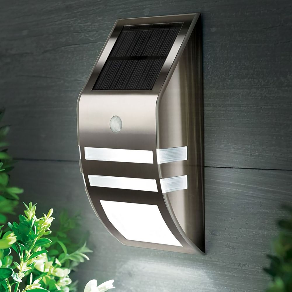Waterproof PIR Motion Sensor LED Solar Light Garden Yard Wall Lamp