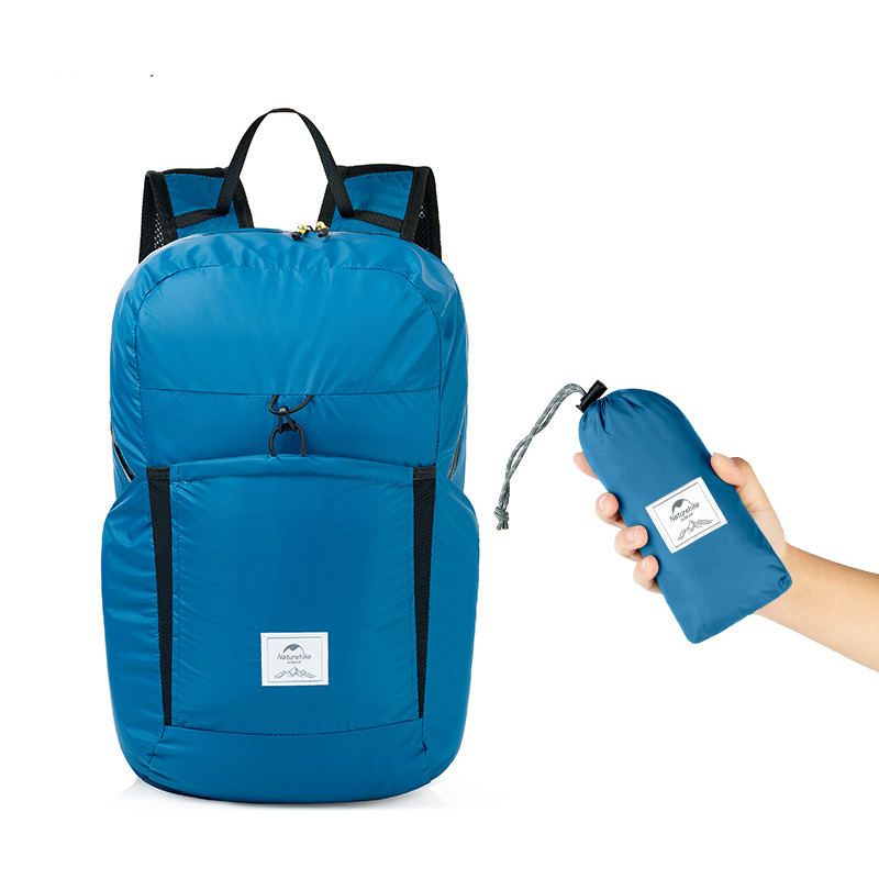 25L Folding Backpack Ultralight Waterproof Foldable Outdoor Sports Travel Bag - Blue