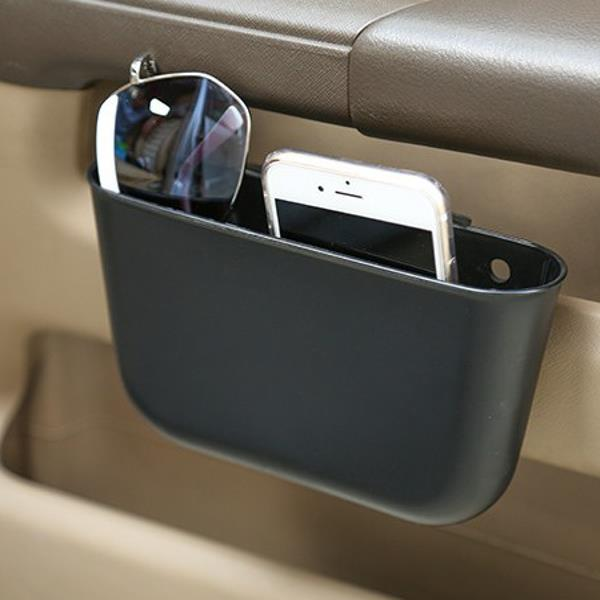 Portable Plastic Storage Car Seat Gap Pocket Phone Holder Organizer - Black