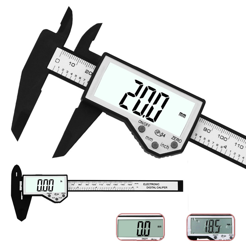 Digital Caliper 6-Inch 150mm Waterproof IP54 Vernier Caliper Micrometer Measuring Tool