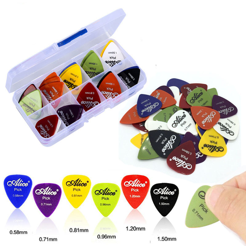 50Pcs Guitar Picks with Case Electric Guita Ukulele