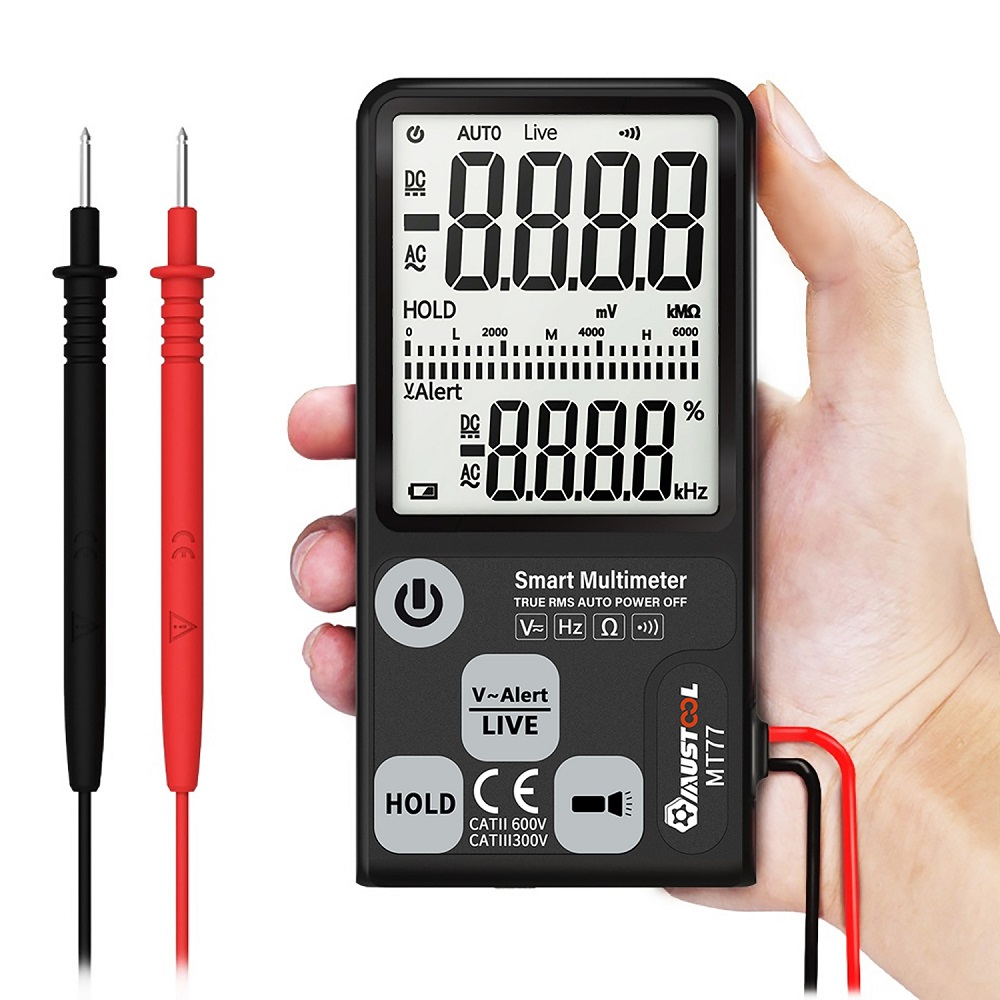 Digital Smart Multimeter Voltage Tester Fully Auto-Range True RMS with Analog Bargraph