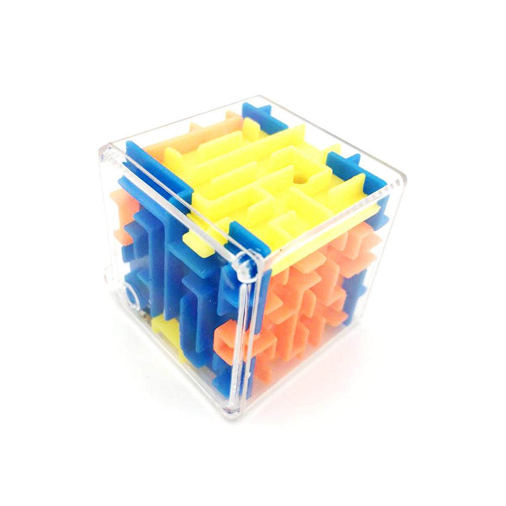 3.8cm Mini Maze Classic Magic Cube Toys 3D Bead Maze Rotating Cube Novelty