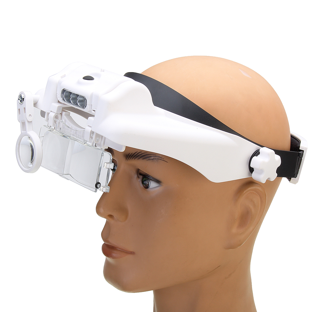 3-LED Adjustable Headband Magnifier USB Charging