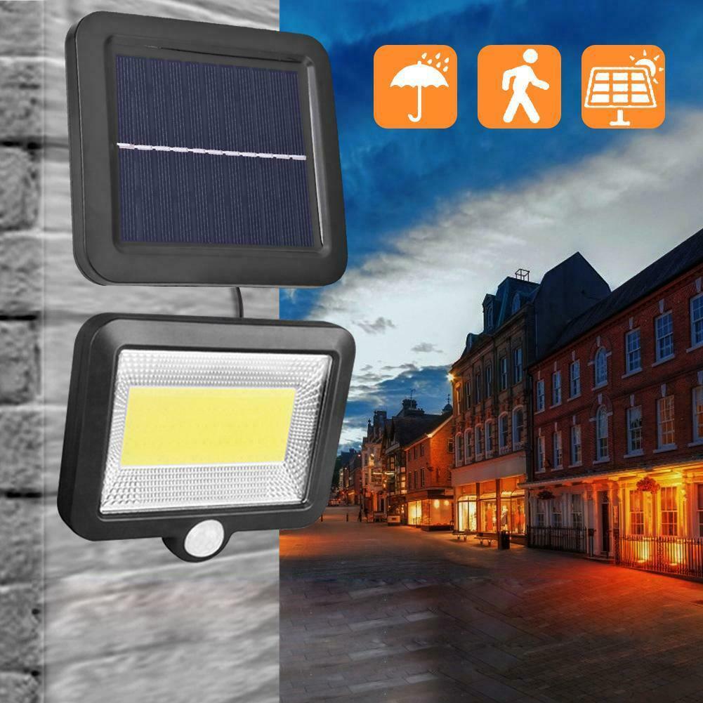 30W Solar 100LED Waterproof IP65 PIR Sensor Motion Garden Yard Camping Light Spotlight