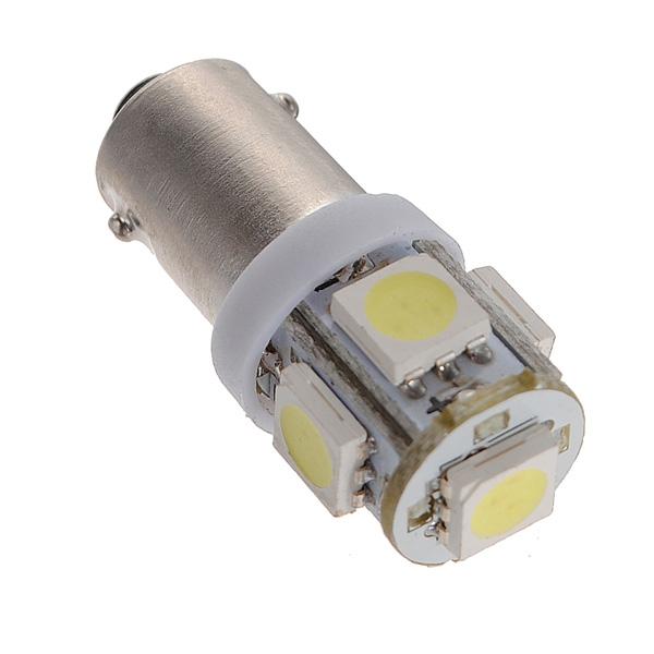 T11 BA9S T4W 5050 SMD Wedge Side 5LED Light Bulb Xenon White Car Lamp DC12V
