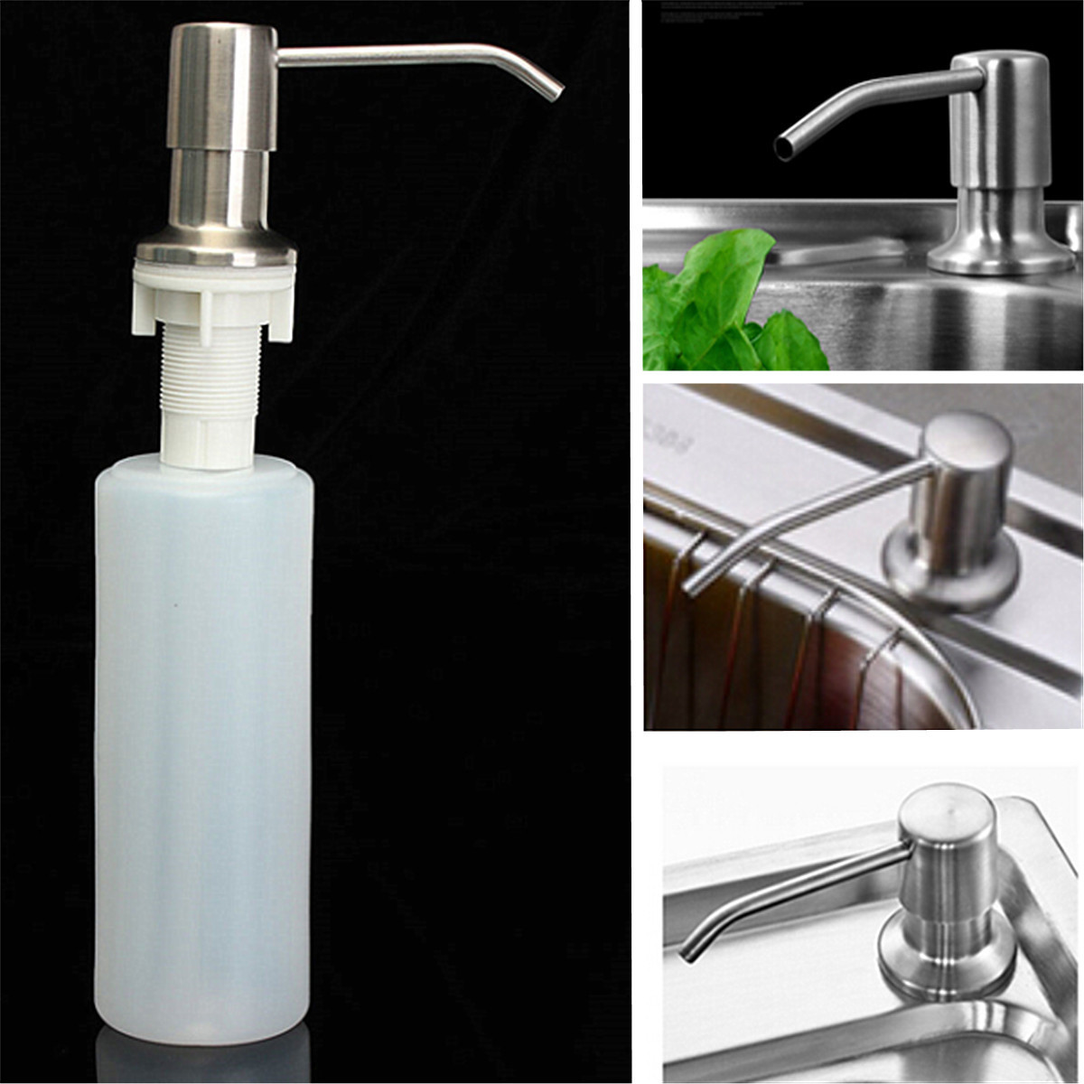 350ml Kitchen Bathroom Sink Liquid Soap Dispenser