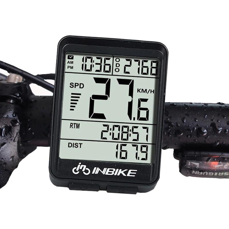 Backlight Bicycle Computer Waterproof Wireless LCD Odometer Speedometer