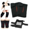 2x Tourmaline Self-Heating Magnetic Therapy Knee Pad