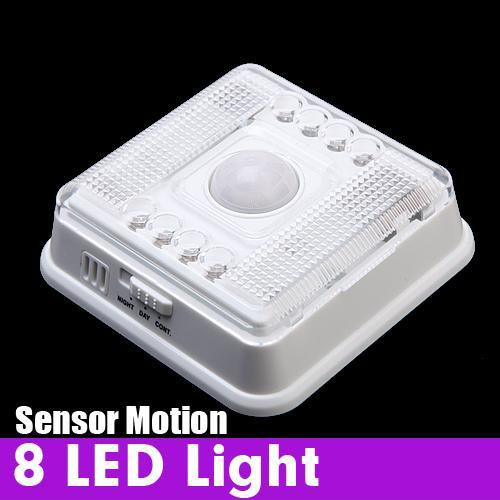 Wireless 8 LED Light with PIR Sensor & Motion Detection for Indoor White Colour