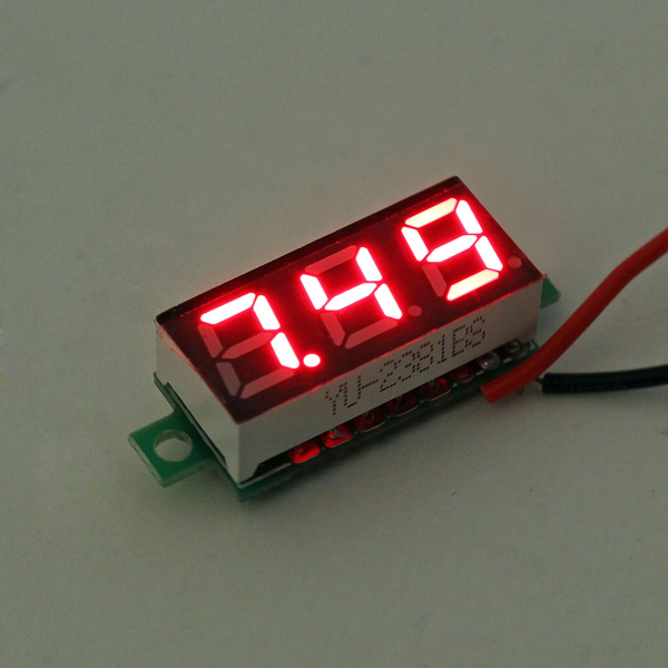 0.28 Inch 2.5V-30V Mini Digital Voltmeter Voltage Tester Meter Red Colour