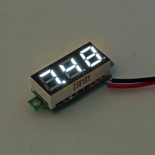 0.28 Inch 2.5V-30V Mini Digital Voltmeter Voltage Tester Meter White Colour