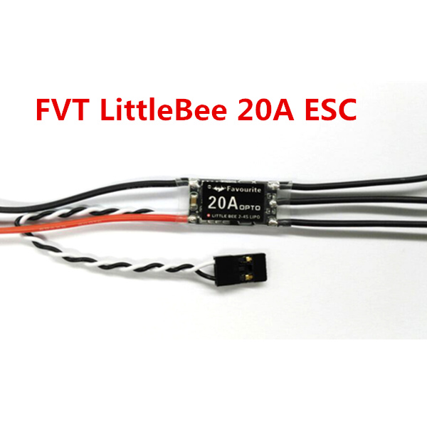 FVT LittleBee 20A Mini ESC BLHeli OPTO 2-4S Supports OneShot125 For RC Multirotors