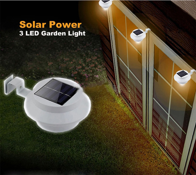Solar Powered LED Light ideal use for Garden Wall Pathway Fence