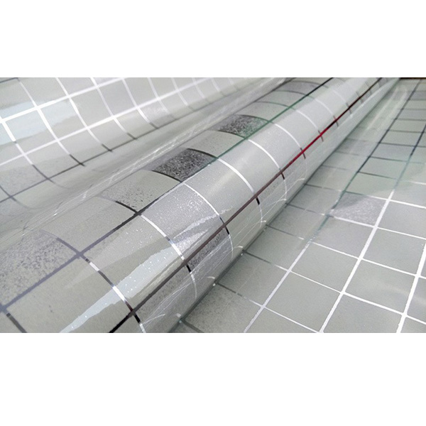 45x500cm Kitchen Home Waterproof Self Adhesive Anti Oil Mosaic Wallpaper Sticker Decoration Silver Colour