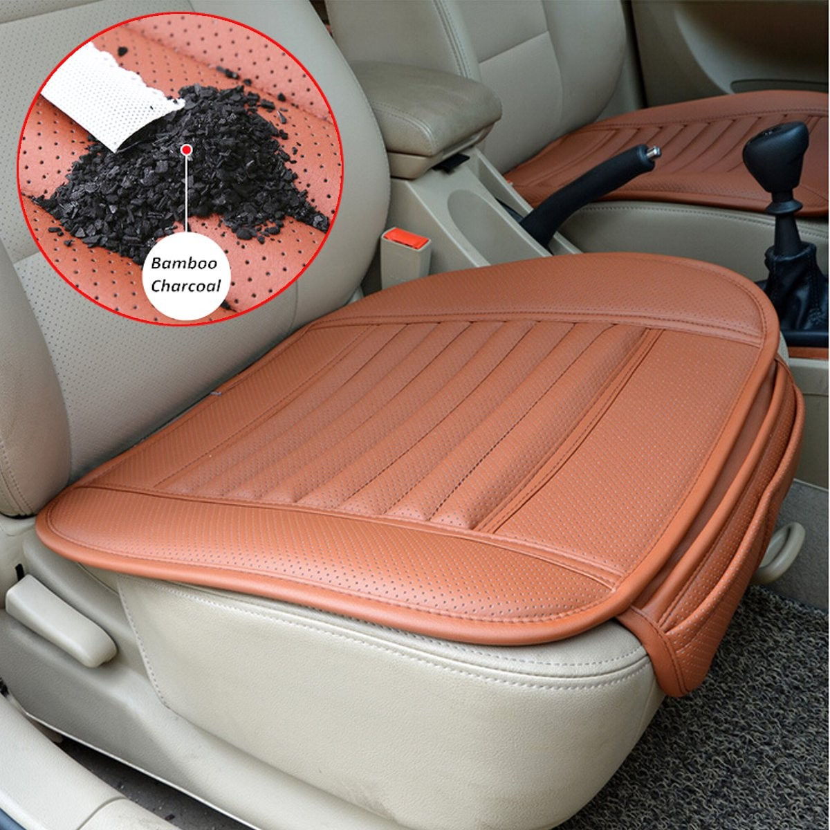 universal pu leather seat seatpad cover decor for auto car office chairs grey colour online. Black Bedroom Furniture Sets. Home Design Ideas