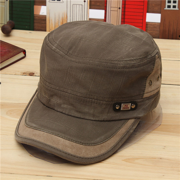9320b8b4258 Unisex Vintage Military Washed Cadet Hat Army Plain Flat Cap Green Colour -  Online Shopping   Shopping Square.COM.AU Online Bargain   Discount Shopping  ...