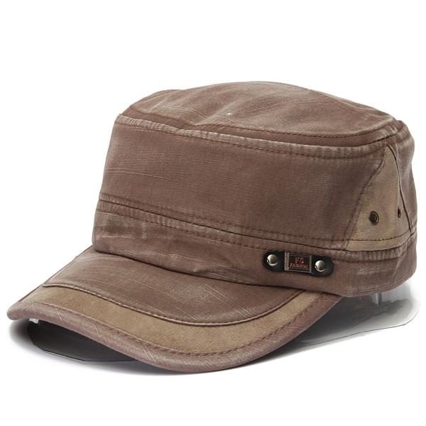 Unisex Vintage Military Washed Cadet Hat Army Plain Flat Cap Light Brown  Colour - Online Shopping   Shopping Square.COM.AU Online Bargain   Discount  ... 6bc62050e0c