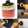4 inch Gross Car Polish Buffer Pad Kit With Drill Adapter