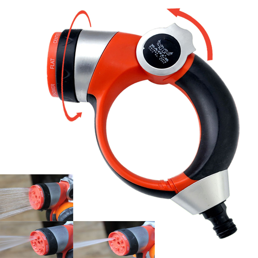 Adjustable high pressure hose nozzle water spray with