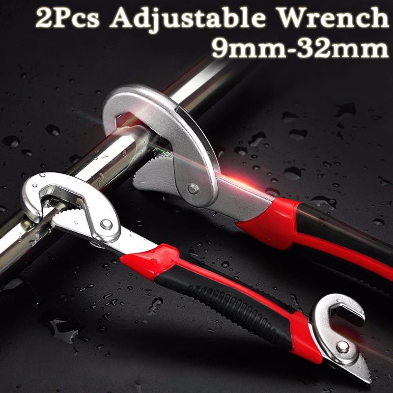 2x Multifunctional Universal Adjustable Snap N Grip  Wrench Spanner Tools Set