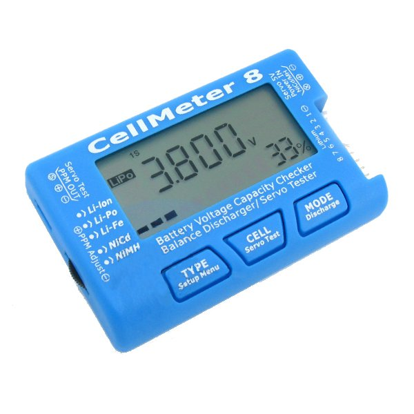 CellMeter 8 Digital Multifunctional Batteries Capacity Servo Tester Checker 2S-8S