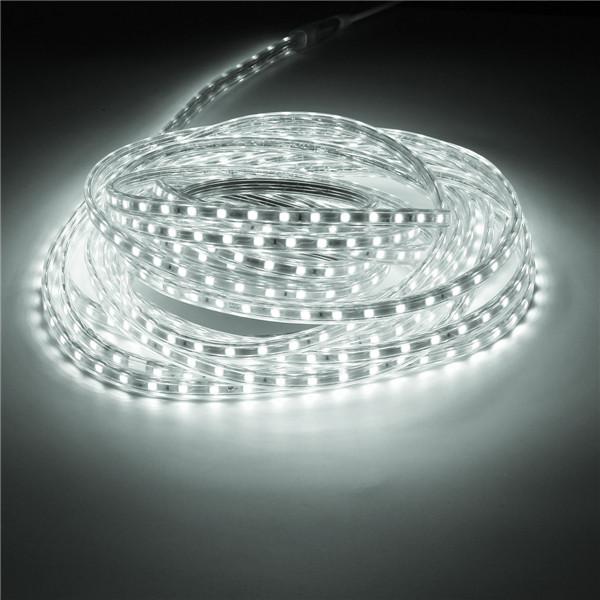 10M IP67 Waterproof 600SMD 5050 LED Light Strip 220V - Pure white