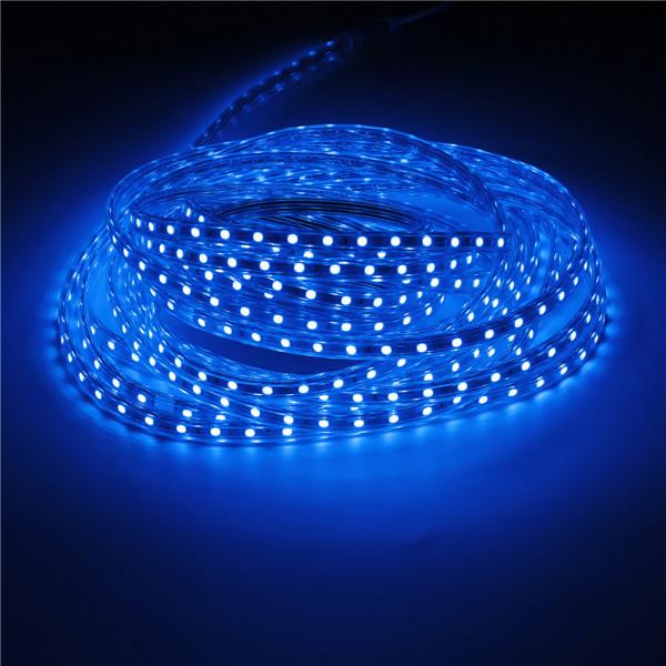 10M IP67 Waterproof 600SMD 5050 LED Light Strip 220V - Blue