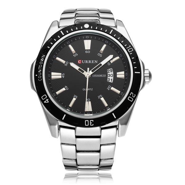 CURREN 8110 Date Sport Stainless Steel Men's Wrist Watch ...