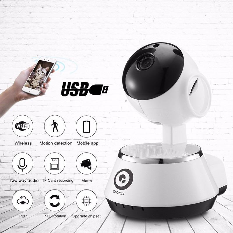 WiFi Wireless USB Baby Monitor Alarm IP Camera for Home Security with HD 720P Audio Onvif