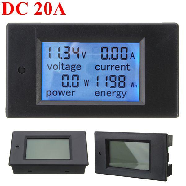 20A DC Multifunctional Digital Power Meter  Voltmeter Ammeter Energy Monitor Module Supported 6.5V-100V