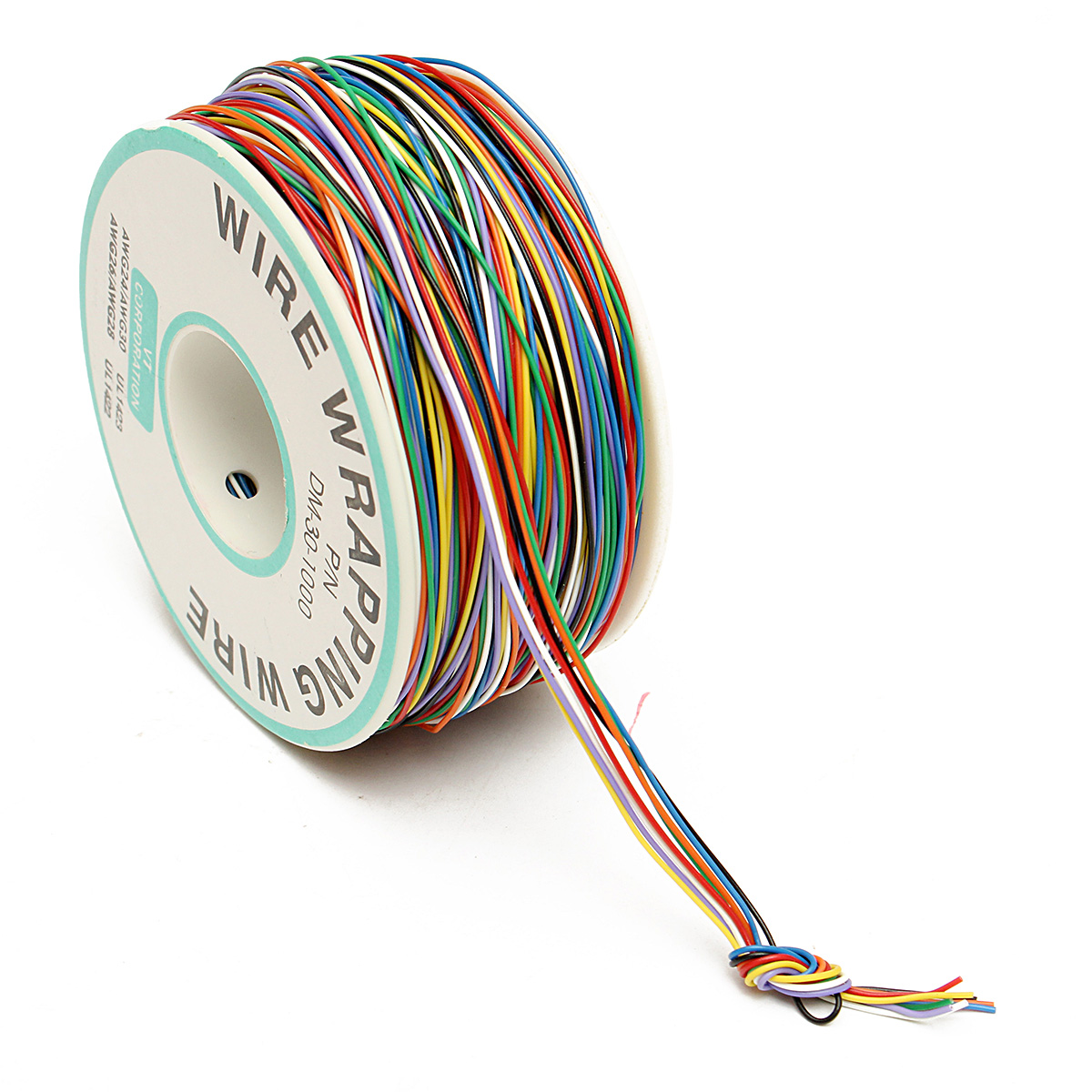 250m 8-Wire Coloured Insulated P/N B-30-1000 30AWG Wire Wrapping Cable Wrap Reel