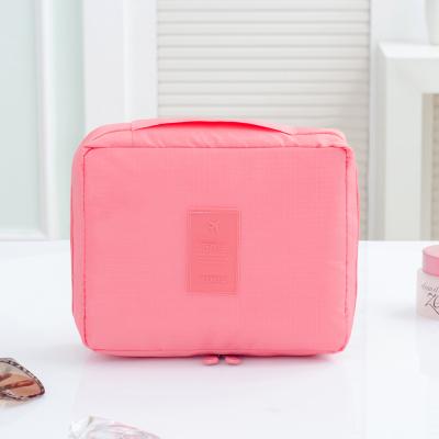 Portable Travel Organizer Cosmetic Makeup Storage Bag Gray Colour Pink Colour