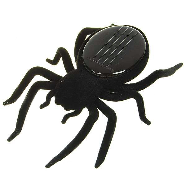 Solar Powered Spider Robot Toy Gadget for Halloween Education Prank Gift