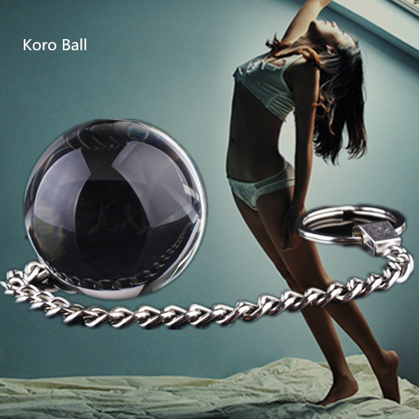 Crystal Dumbbell Kegel Koro Balls Smart Bead Dildo With Chain Vaginal Anal Toy