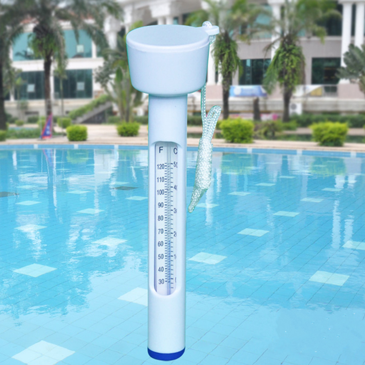 Floating Waterproof Temperature Thermometer for Swimming Pool Bath Spa Hot Tub Supported Celsius Fahrenheit